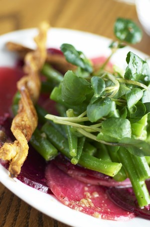 berros: Ensalada de remolacha con jud�as verdes y berros