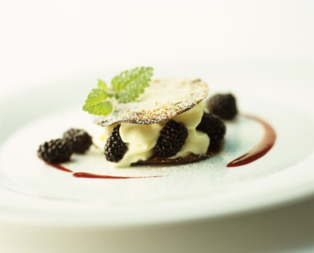 mille: Mille feuille with cream and blackberries LANG_EVOIMAGES