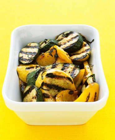 barbecues: Chargrilled courgette and yellow peppers