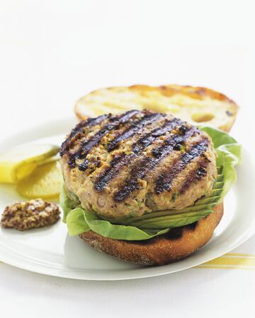 barbecues: A barbecued hamburger with avocado LANG_EVOIMAGES