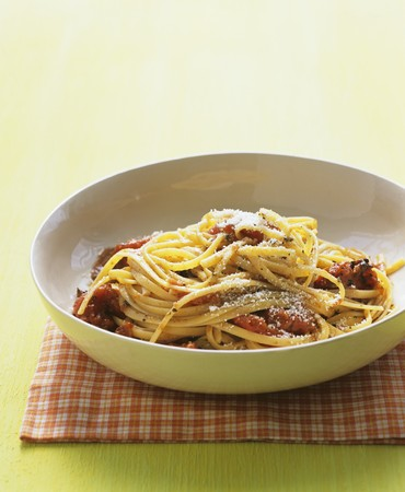 qs: Linguine with grilled tomatoes and parmesan