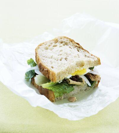 tunafish: Tuna and egg sandwich