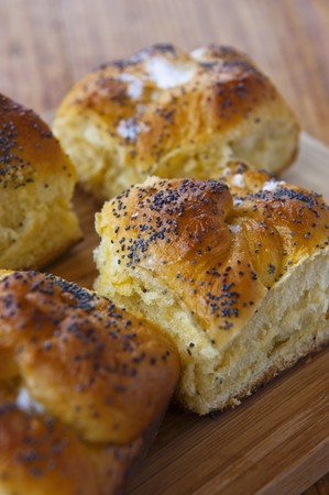 rumanian: Cheese and poppy seed rolls (Romania)
