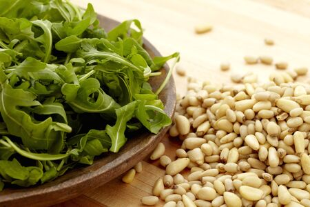 pine nuts: Pine Nuts and Arugula