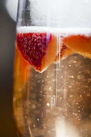 champers: Champagne with Strawberries