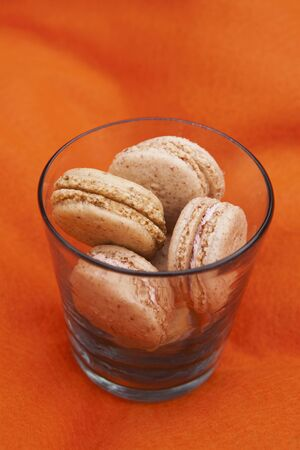 free me: Strawberry macaroons in a glass