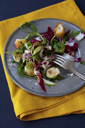 arugola: Brussel Sprout and Arugula Salad