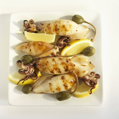 calamares: Calamari Grilled with Lemons and Capers