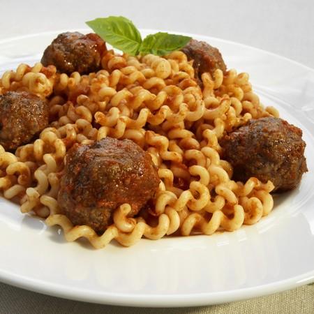 marinara: Meatballs in Marinara Sauce over Fusilli Col Buco Pasta