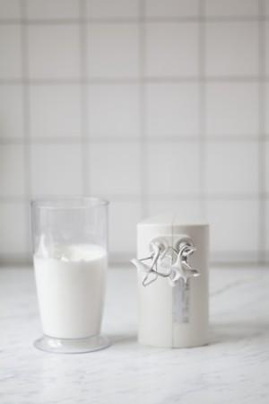liquidiser: Egg whites beaten until stiff, next to a mixer
