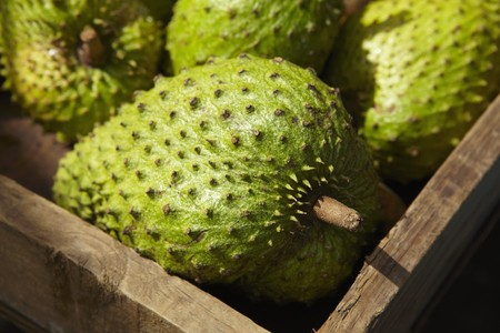 anona: Soursop fruit in a crate LANG_EVOIMAGES