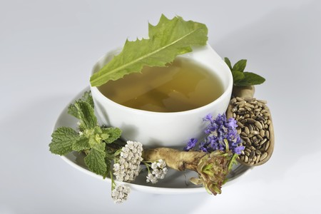 innards: Herbal tea made from herbs, flowers and medicinal plants