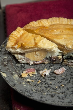 meat pie: Meat pie with egg