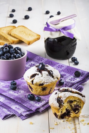twos: Blueberry muffins