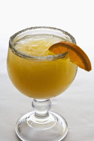 sugared: An orange Margarita with a sugared rim LANG_EVOIMAGES