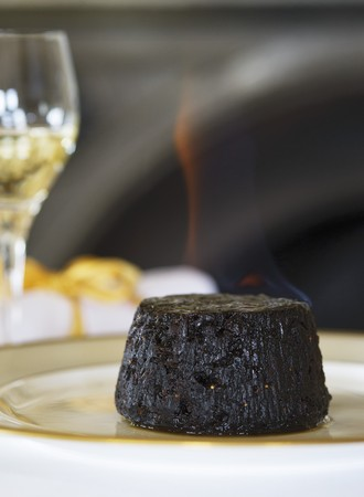 plum pudding: Budino Flambed Natale LANG_EVOIMAGES