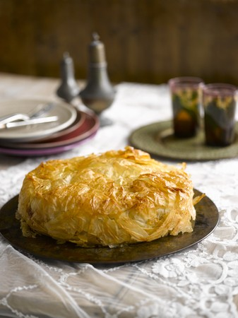 moroccan cuisine: A Maroccan pie