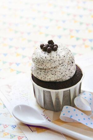 cookie chocolat: Un petit g�teau de biscuit au chocolat