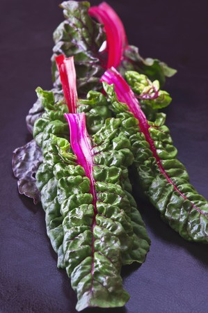 chard: Red chard leaves