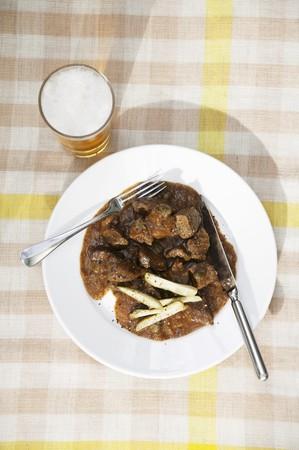 peppery: Pfefferpotthast (peppery beef stew from Westphalia, Germany)