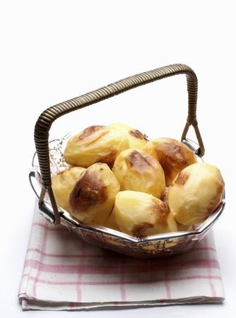 side order: Baked potatoes in a basket