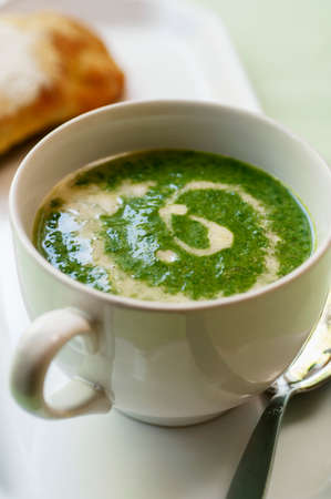 stinging  nettle: Stinging nettle soup with sour cream LANG_EVOIMAGES