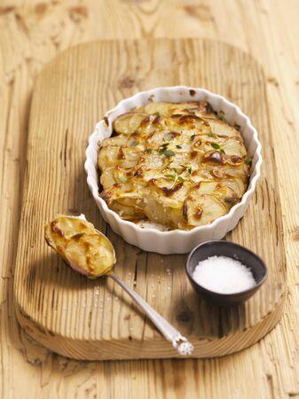 side order: Potato gratin and salt