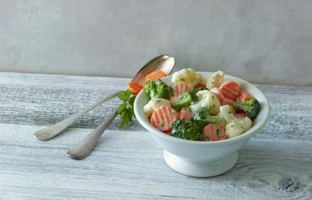 side order: Garden vegetables in a creamy sauce LANG_EVOIMAGES
