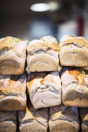 pain blanc: Des piles de pain blanc LANG_EVOIMAGES