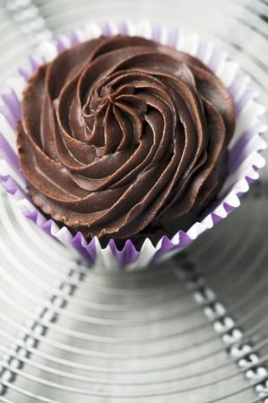 ganache: A chocolate ganache cupcake
