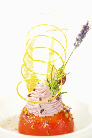 lavandula angustifolia: Decorated lavender-violet ice cream