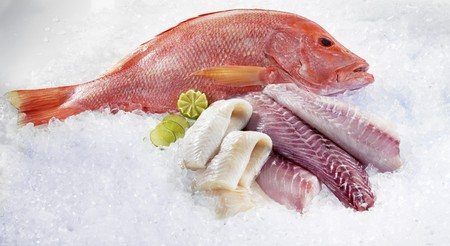 fish fillet: Whole Red Snapper, Parrot fish fillet and Kingklip fillet