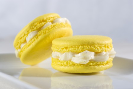 free me: Two macaroons with vanilla cream