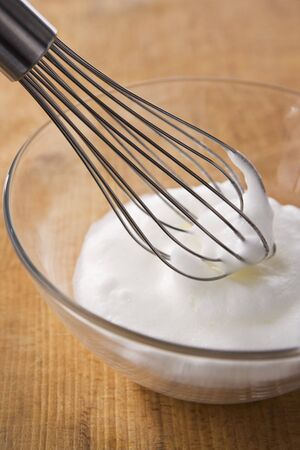 huevo blanco: Clara de huevo batida