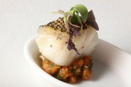 fish fillet: Fish fillet with vegetable salad LANG_EVOIMAGES