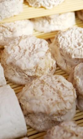 queso de cabra: Filas de Queso de Cabra