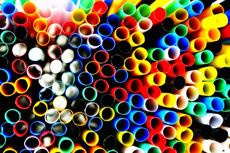 brightly colored: Lots of coloured straws