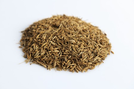 fennel seeds: A pile of fennel seeds