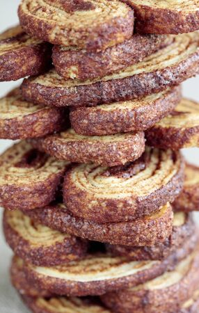 danish puff pastry: A stack of palmiers LANG_EVOIMAGES