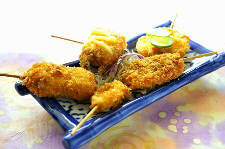 revestimientos: Fried, mariscos maltratadas en los palillos LANG_EVOIMAGES
