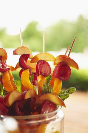 brochetas de frutas: Piedra Pinchos de la fruta listo para la parrilla LANG_EVOIMAGES