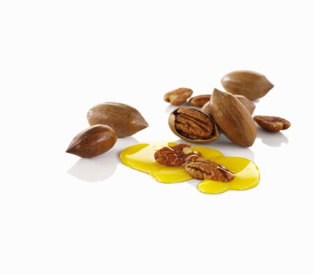 pecans: Pecans and syrup