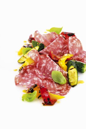 salame: Brianza salami with zucchini, peppers and basil