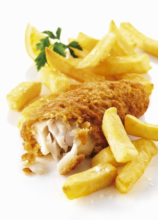 fish and chips: Pescado y patatas fritas LANG_EVOIMAGES
