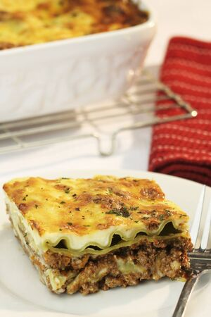 ovenbaked: Lasagne with mince beef