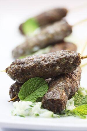 tzatziki: Lamb kofte with tzatziki and mint