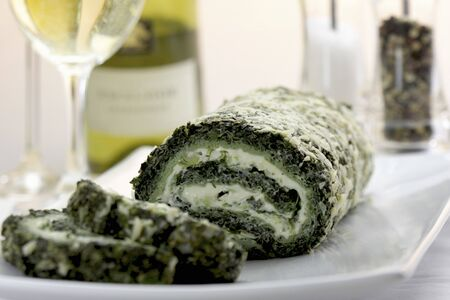 water cress: Spinach roulade with water cress
