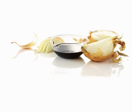 balsamic: Onions and balsamic vinegar