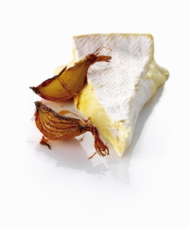 caramelized: A slice of brie and caramelized onions