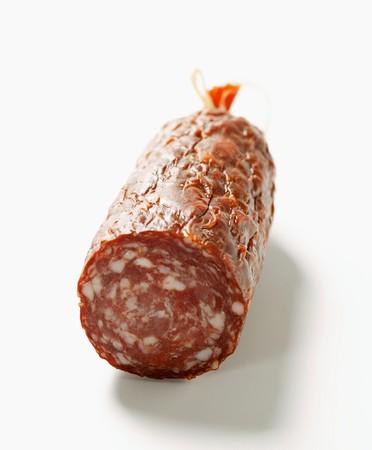 cut off: Venison sausage (salami), a piece cut off LANG_EVOIMAGES